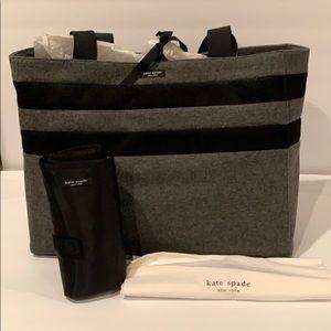NWT Kate Spade College Stripe Large Diaper Bag